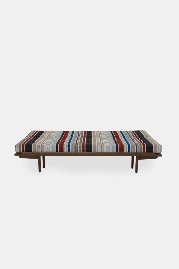 PV Daybed, dansk design møbel, stribet stof