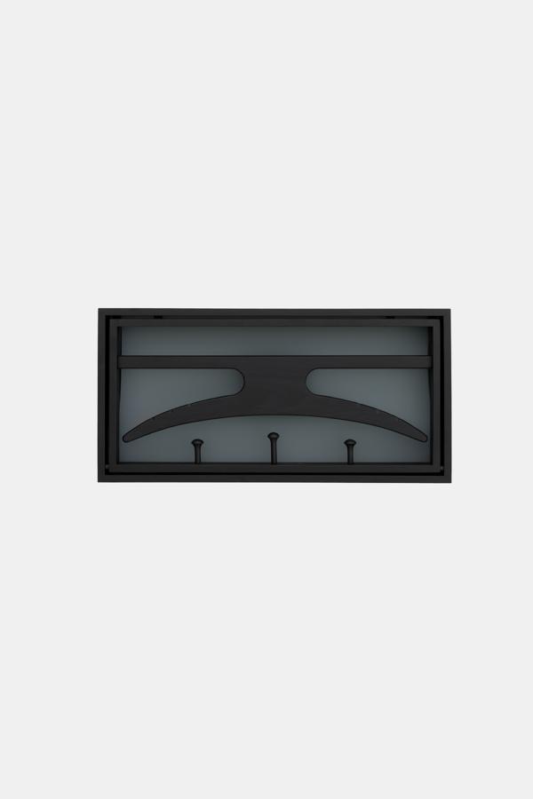 The Hanger knagerække og skab i ét, sort, blå og grå