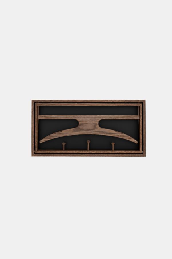 Designer knagerække -The Hanger, røget eg og sort bg