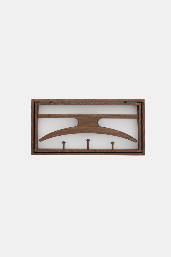 Knagerække Røget eg, The Hanger danske designmøbler