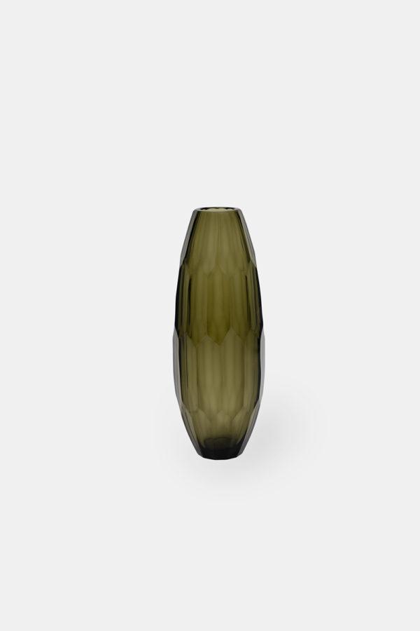 Drake 27 Olive, dansk gennemsigtig glasvase