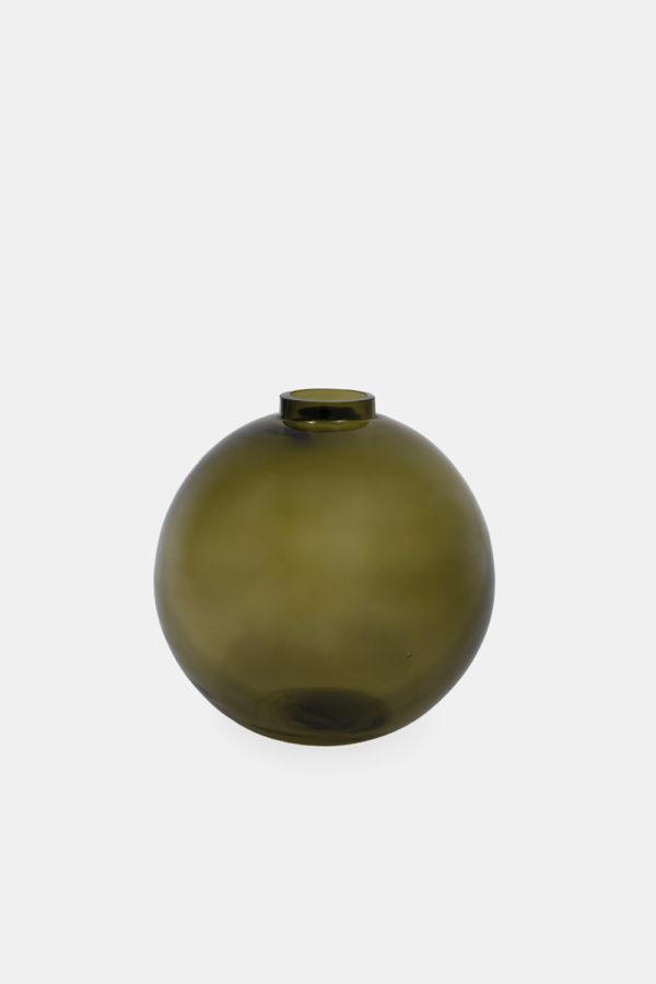 Lukas kuglevase i grønt glas, dansk design bowle