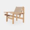 Jagtstolen Model 168 af Kurt Østervig, læderstol