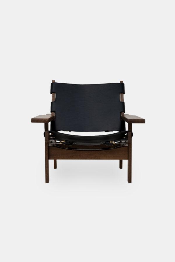 Dansk stoldesign, Jagtstolen i sort læder af Kurt Østervig