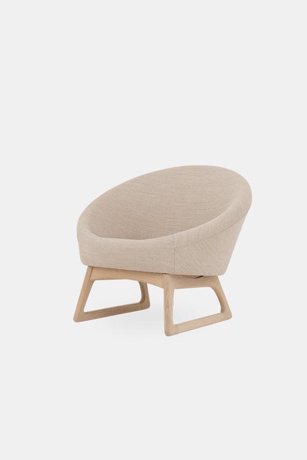 Baljestoen Kurt Østervig, rund stol, klassiks design