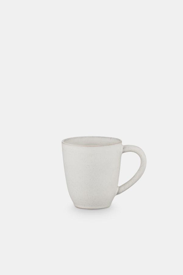 keramik krus med hank hvid